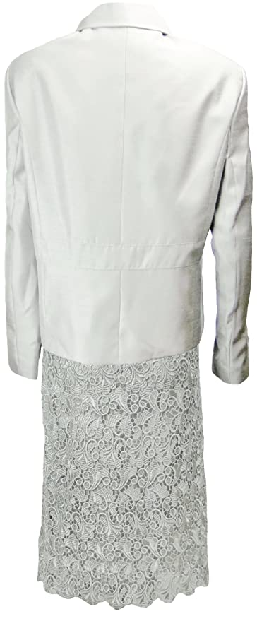 6f3f21d6d14f Amazon.com: Tahari Luxe Women's Nelson Skirt Suit 24W Silver [Apparel] [ Apparel] [Apparel]: Clothing