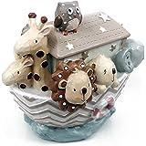 Baby Gift - Noah's Ark Boat Large Resin Money Box Gift