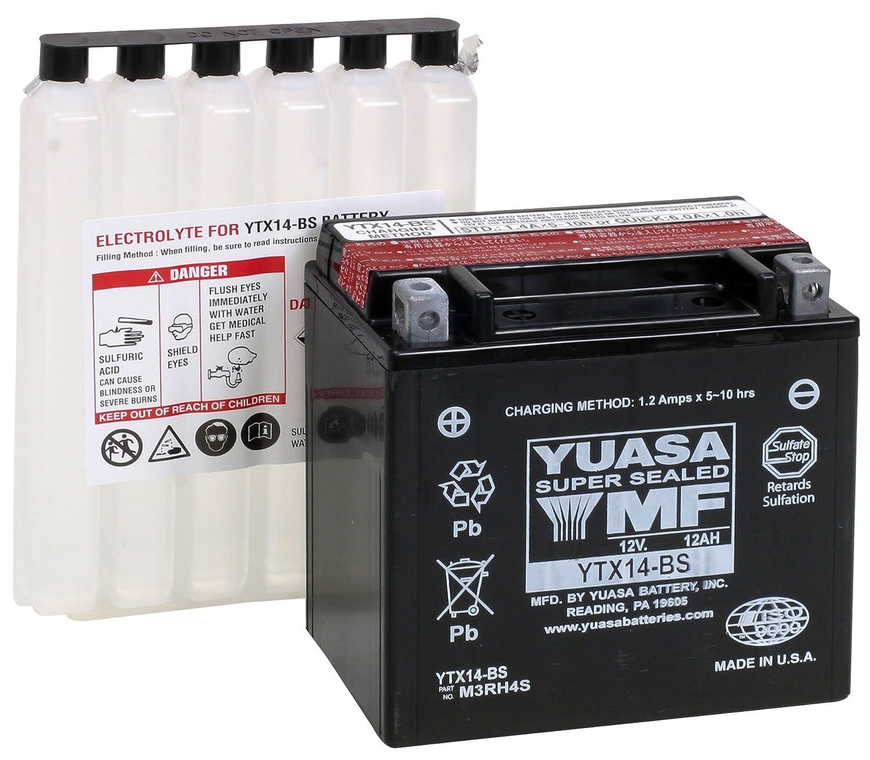 amazon com yuasa ytx14 bs maintenance free battery automotive rh amazon com Yuasa Battery Dealers Yuasa 12V Battery