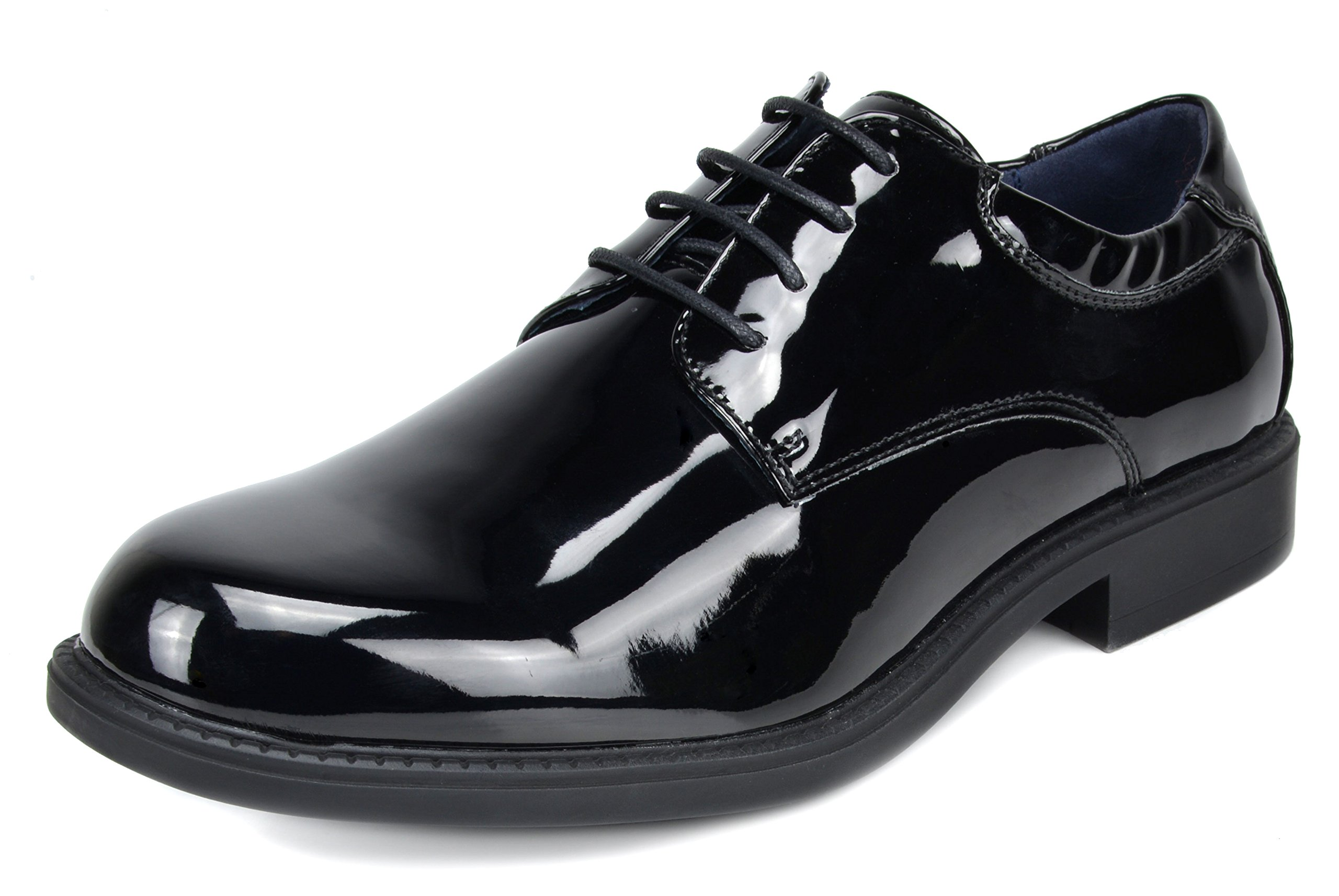 Bruno Marc Men's Downing-02 Black Pat Leather Lined Dress Oxfords Shoes - 15 M US
