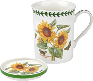Portmeirion Botanic Garden Sunflower Mug and Coaster Set