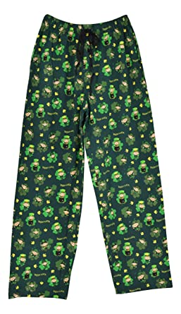 UB Adult St Patrick s Day Leprechaun Matching Family Pajama Pants (S) Green b418bae3a