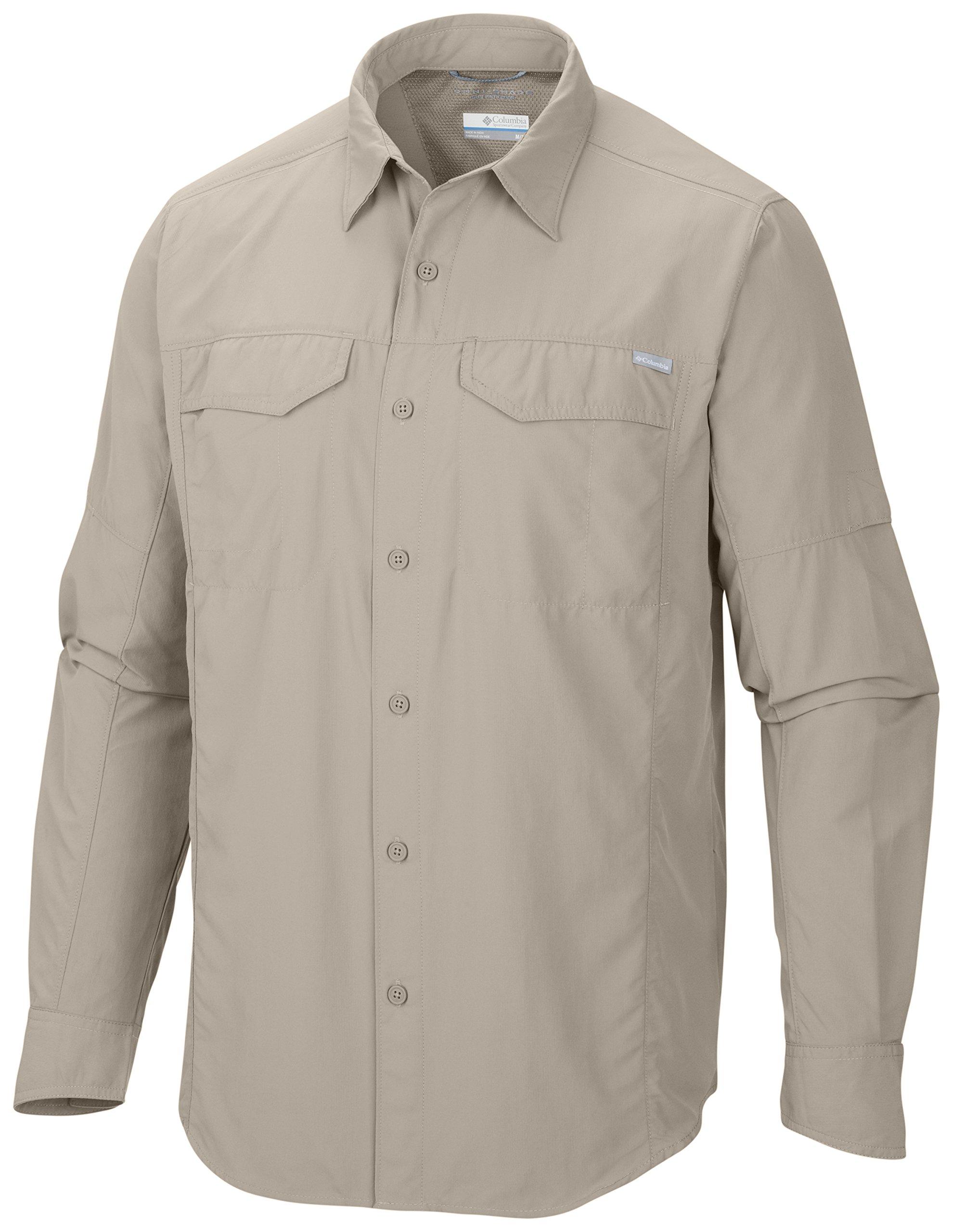 Columbia Silver Ridge Long Sleeve Shirt, Medium, Fossil