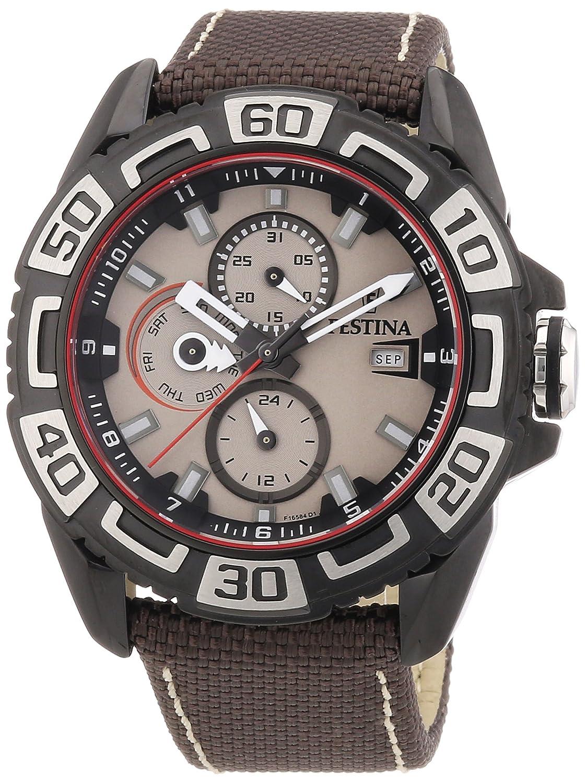 Festina F16584/1 - Reloj analógico de Cuarzo para Hombre con Correa de Piel, Color marrón