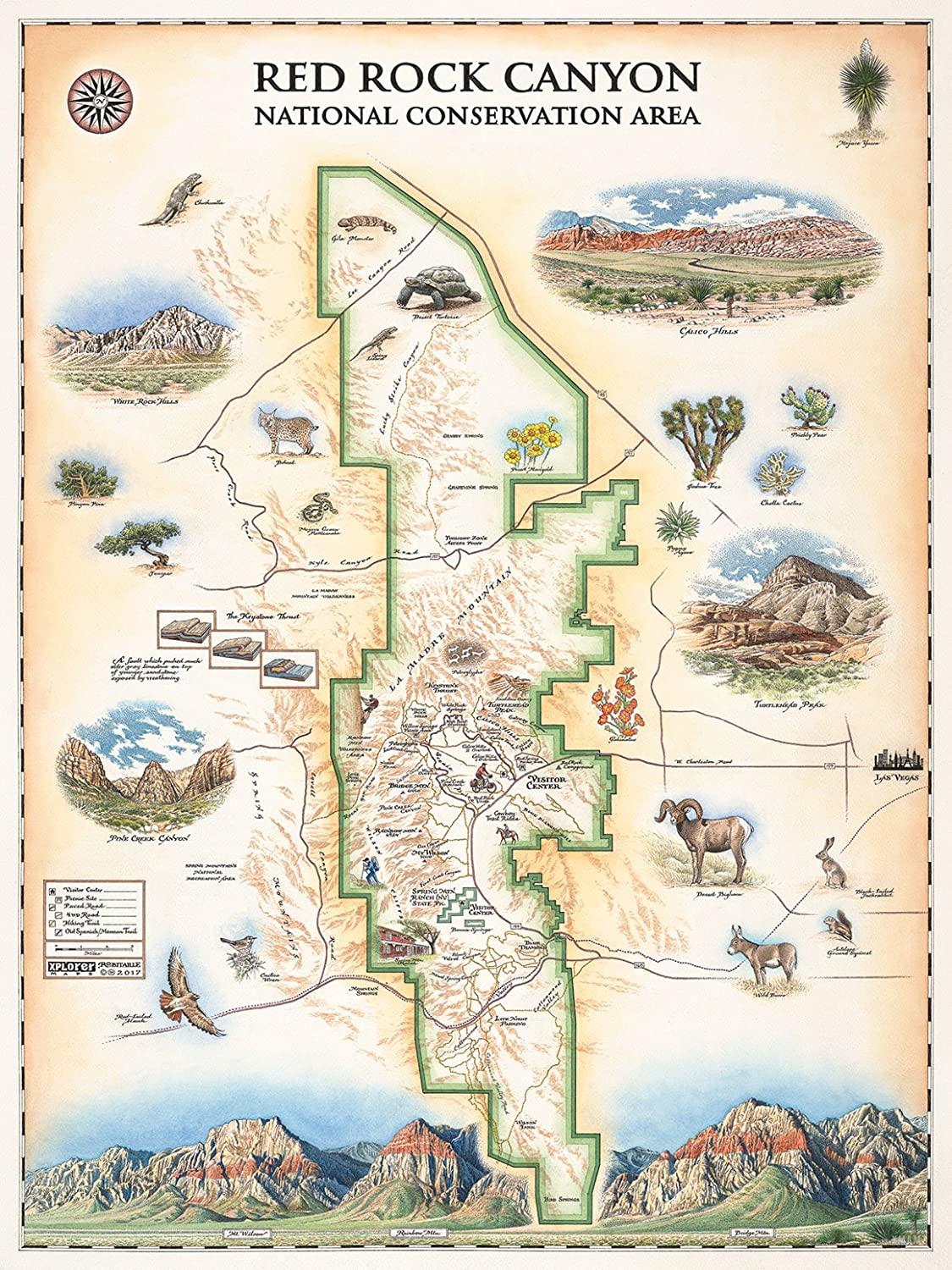 Amazon com: Red Rock Canyon National Conservation Area Map