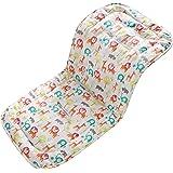 Morbido & reversibile bambino in puro cotone per passeggino o seggiolino auto per passeggino inserto portatile per il cambio, universale di passeggino dimensioni 32 x 80 cm infant cuscino pad(Zoo)