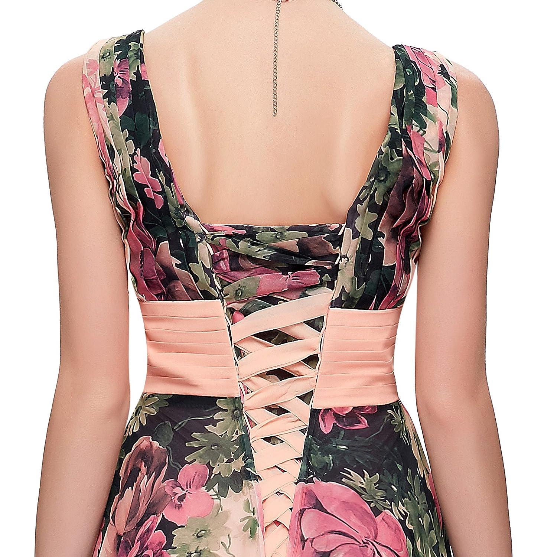 GK Prom Dress - Vestido - trapecio - Sin mangas - para mujer floral 38: Amazon.es: Ropa y accesorios