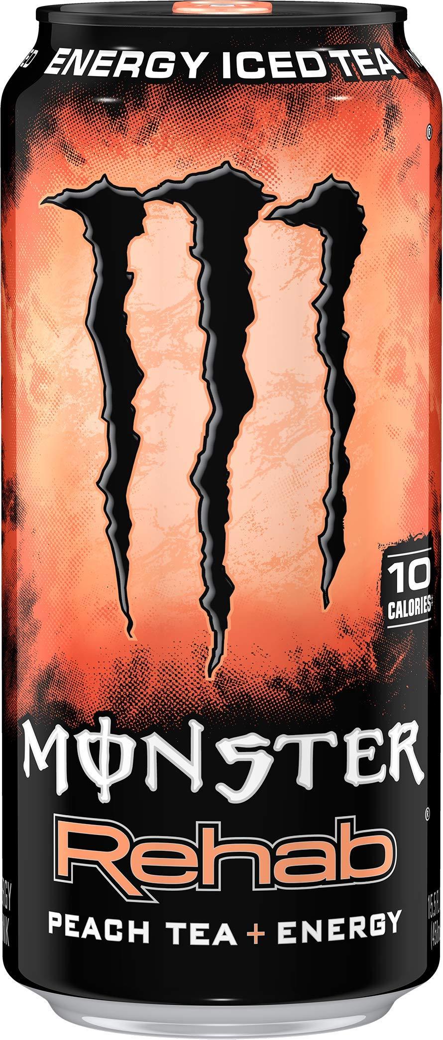 Monster Rehab Peach Tea + Energy, Energy Iced Tea, 15.5 Ounce (Pack of 24) by Monster Energy (Image #3)