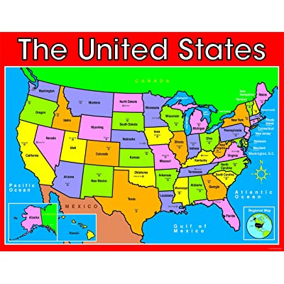 Carson Dellosa U S Map Chart (6245): Toys & Games