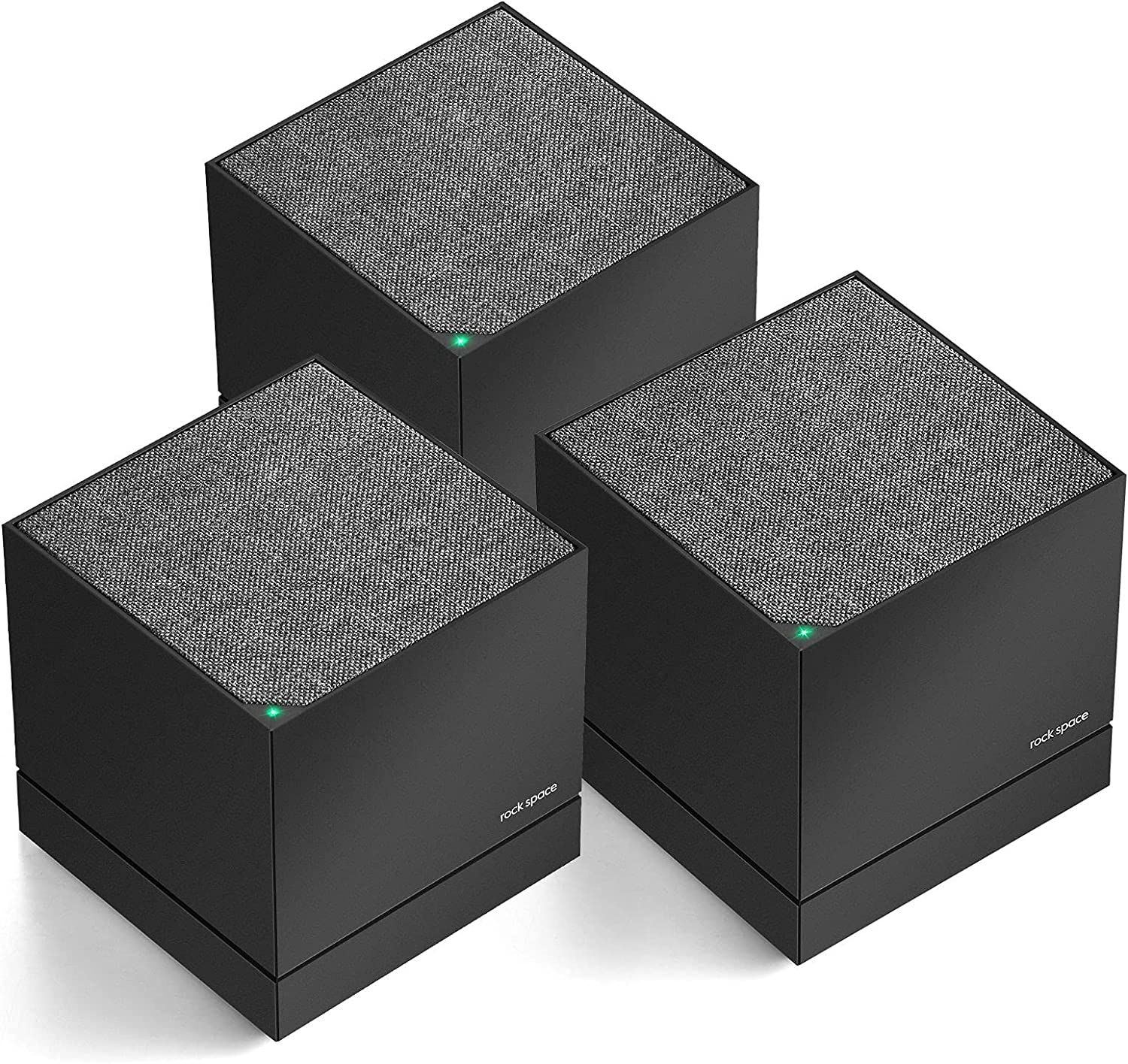 Tri-Band Whole Home Mesh WiFi System, rockspace Router & Extender Replacement Covers Up to 6000sq.ft. Seamless High Performance Mesh WiFi Network Covers 8+ Rooms and100+ Devices-3 Pack