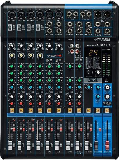 Yamaha MG12XU - Mezclador para DJ (24 Bit, -78 Db, 192 kHz, 6,3 mm ...
