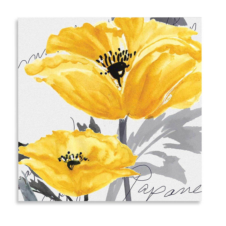 Amazon.com: Yellow Poppy I Canvas Wall Art: Posters & Prints