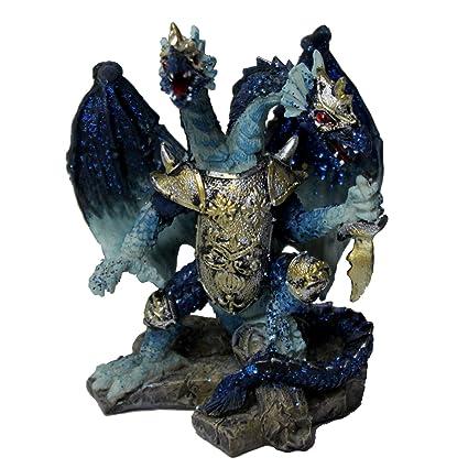 Amazon.com: Ninja Gear Glittering Blue Dragon Warrior: Home ...