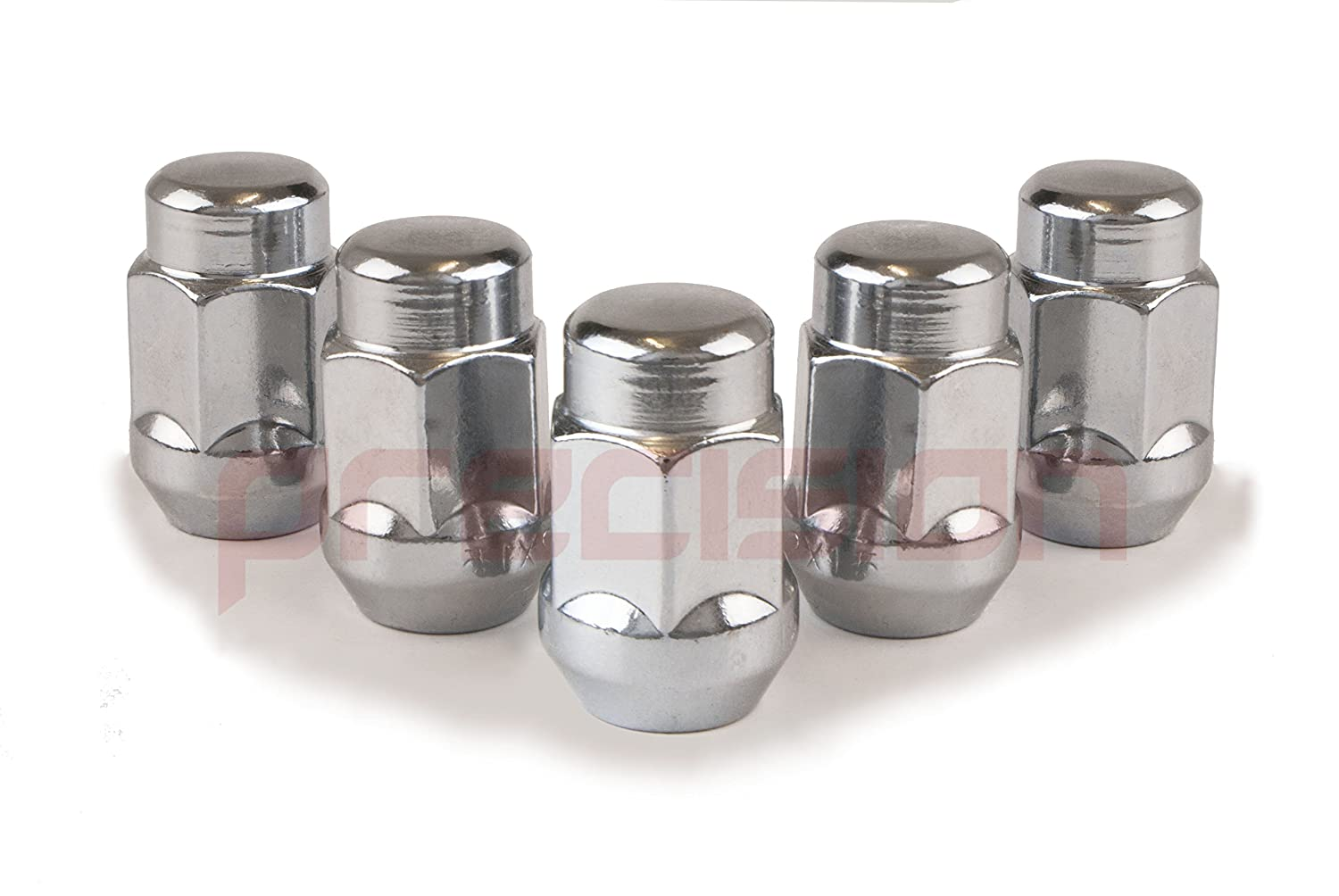 20NM10522 Precision 20 x Chrome Wheel Nuts for Ḟord C-Max with Aftermarket Alloy Wheels Part No