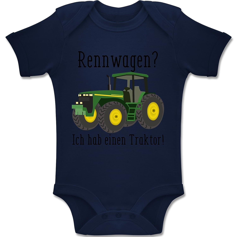Shirtracer Fahrzeuge Baby - Rennwagen? Traktor! - Baby Body Kurzarm Jungen Mädchen BZ10