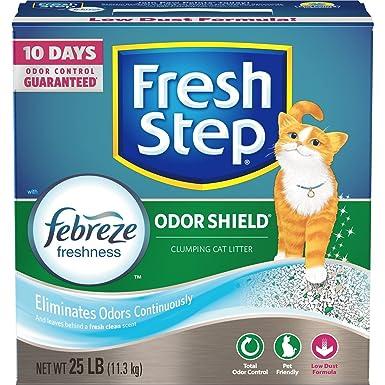 Fresh Step Escudo de olor con frescura Febreze, arena para gatos ...