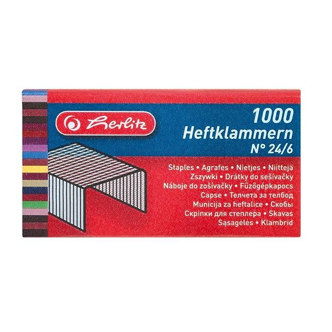 24//6 verzinkt 1000 Stück von Herlitz Heftklammern No