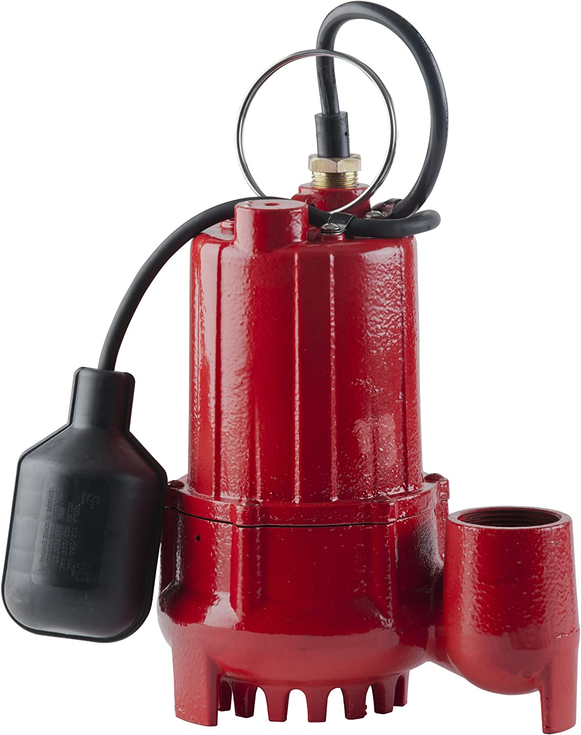 Red Lion RL-SC33T 1/3-HP 3350-GPH Sump Pump with Tethered Float Switch and 1/2-Inch Solids, Cast Iron