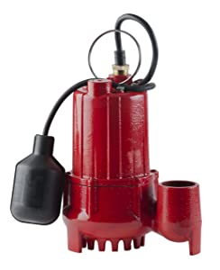 Red Lion RL-SC50T 14942746 Sump Pump with Tethered Float Switch, Cast Iron
