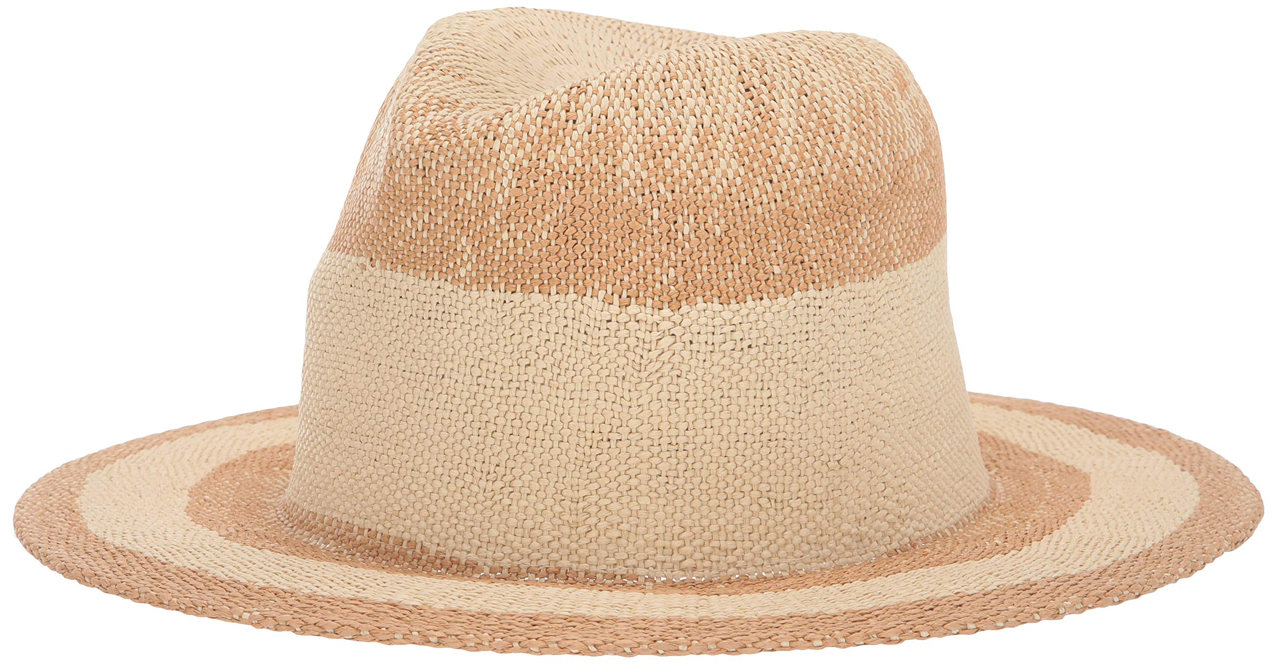 Michael Stars Women's Lauren Contrast Stripe Fedora, Natural, One Size