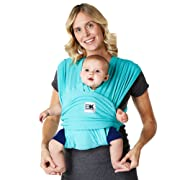 Baby K'tan - Breeze Baby Carrier Wrap Sling with Breathable Cotton Mesh, Multiple Ways to Wear - Teal, Large (L)
