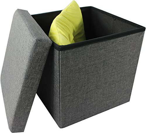 Achim Home Furnishings OTLN15GY04 Collapsible Storage Ottoman