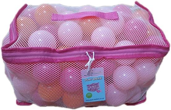 Tech Traders TT100BALL-pink - Bolas de juegos en bolsa de transporte de malla , color/modelo surtido: Amazon.es: Juguetes y juegos