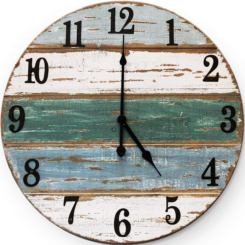 12 inch Beach Clock   Handmade Cedar Wood Beach Wall Clock   Great Ocean  Clock, On Lake Time Clock, Coastal Wall Clock, Beach Theme Clock, Tropical  ...
