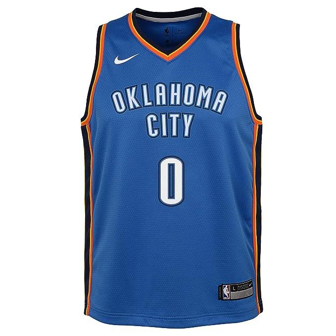 Nike NBA Oklahoma City Thunder Russell Westbrook 0 2017 2018 Icon ...