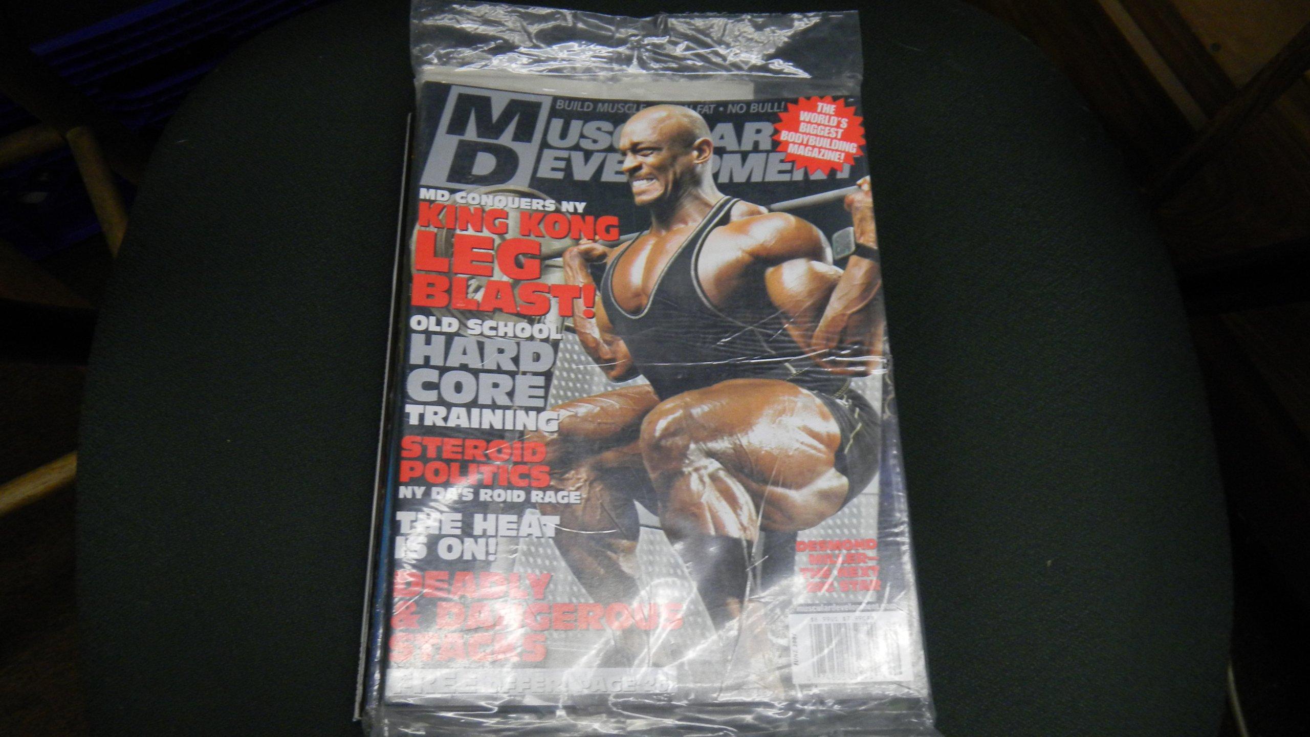 Muscular Development Magazine June 2007 King Kong Leg Blast and Hard