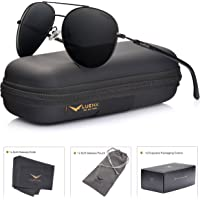 LUENX Men Aviator Sunglasses with case