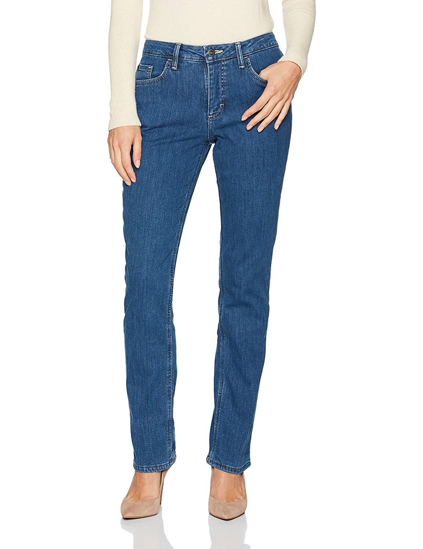29c33637 Riders by Lee Indigo Women's Fleece Lined Slim Straight Leg Jean at Amazon Women's  Jeans store