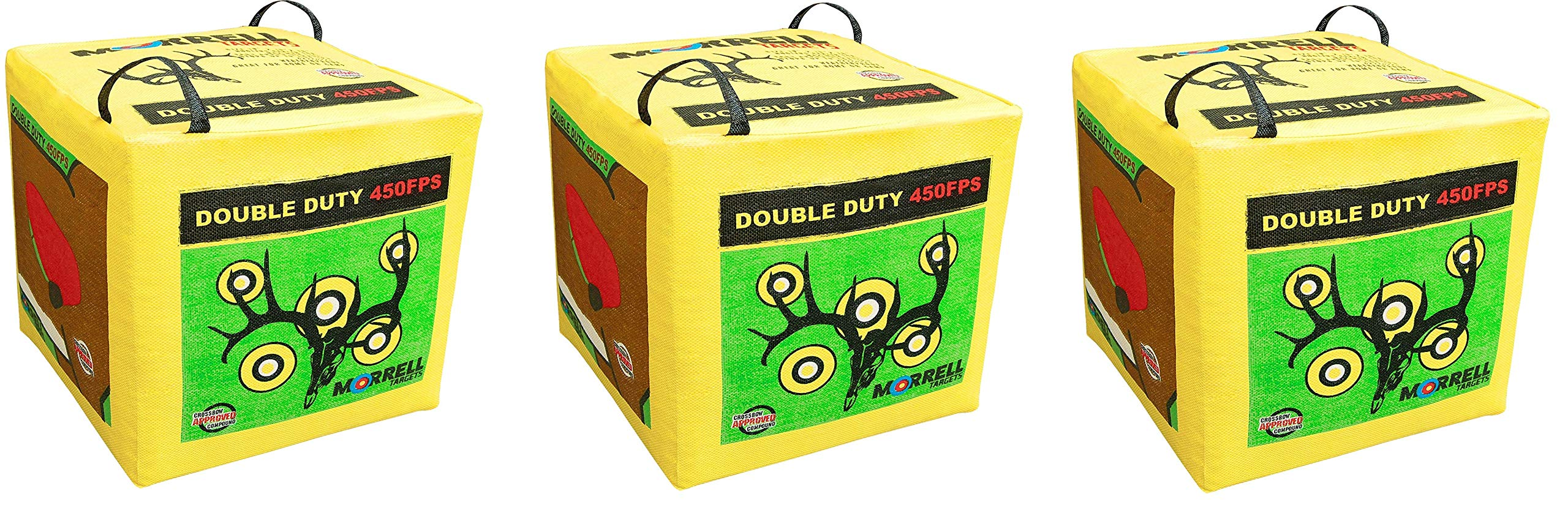Morrell Double Duty 450FPS Field Point Bag Archery Target - for Crossbows, Compounds, Traditional Bows and Airbows (3-Pack)