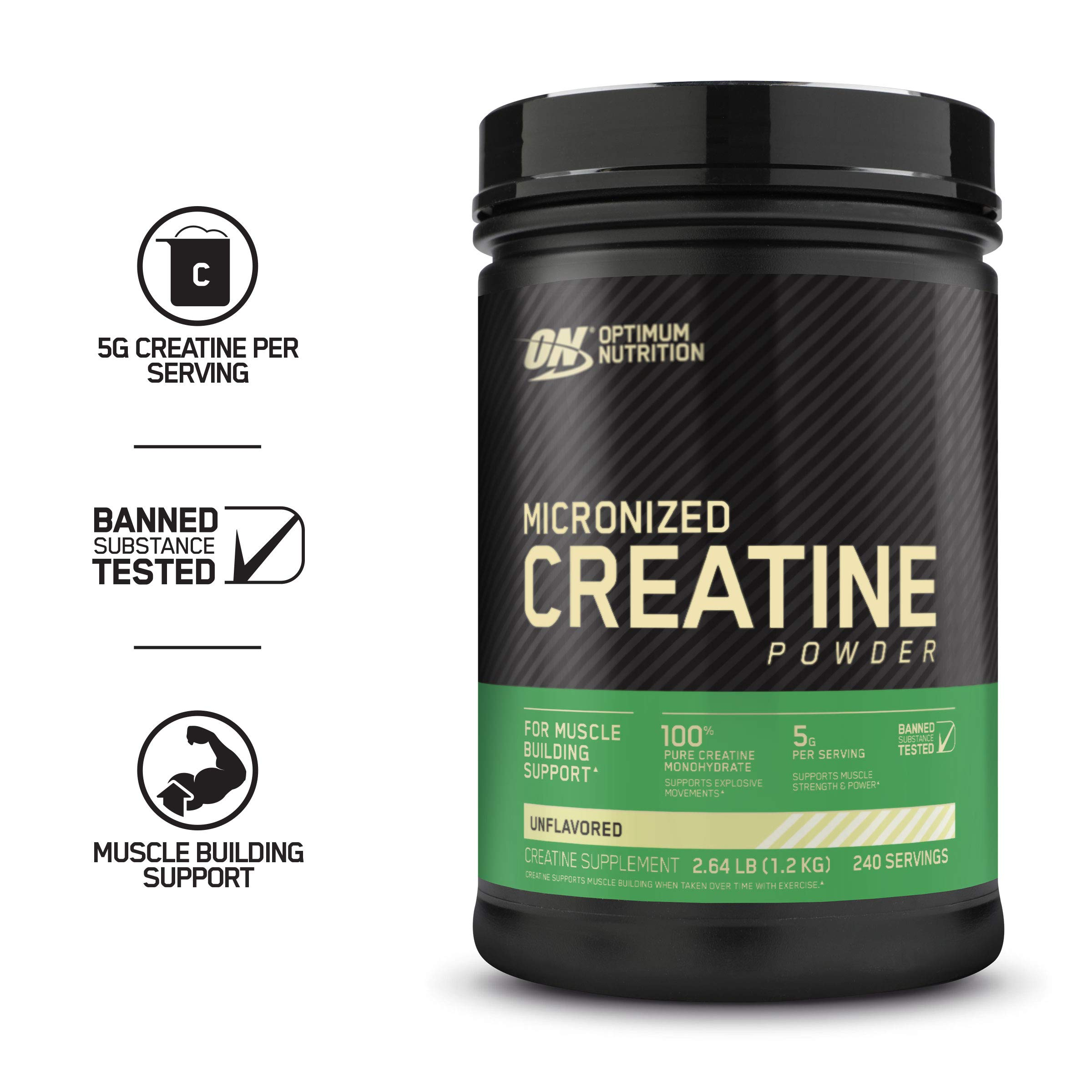 Optimum Nutrition Micronized Creatine Monohydrate Powder, Unflavored, Keto Friendly, 42.24 Ounce (Packaging May Vary) by Optimum Nutrition