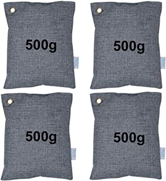 Bamboo Charcoal Air Purifying Bags (set of 4)
