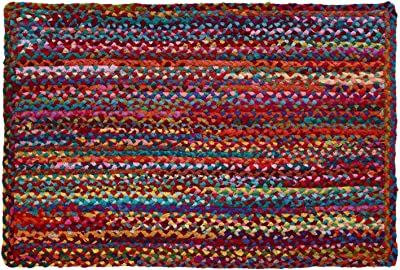 """HF by LT Cotton Carnivale Braided Rug, 24"""" x 36"""", Multi-Colored"""
