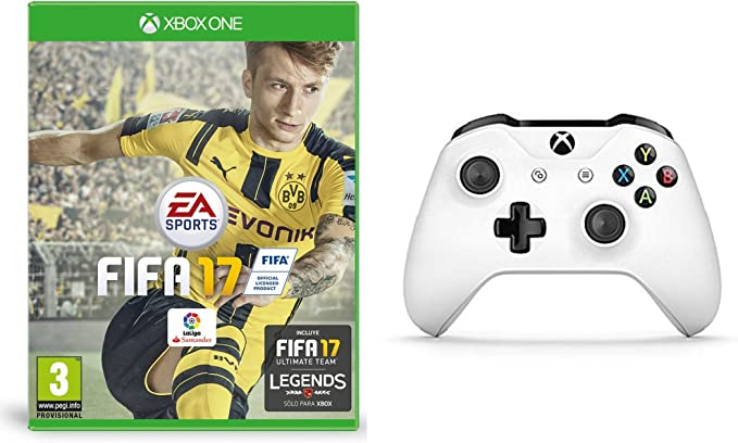 FIFA 17 - Standard Edition + Mando Inalámbrico, Color Blanco (Xbox ...