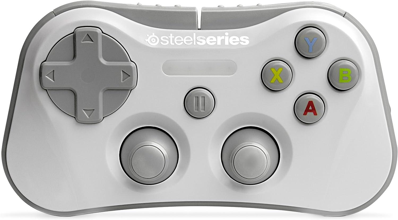 SteelSeries Stratus - Controlador de Juegos inalámbrico, Bluetooth, 12 Botones, Recargable, (iOS/iPad/iPhone/iPod Touch), Blanco