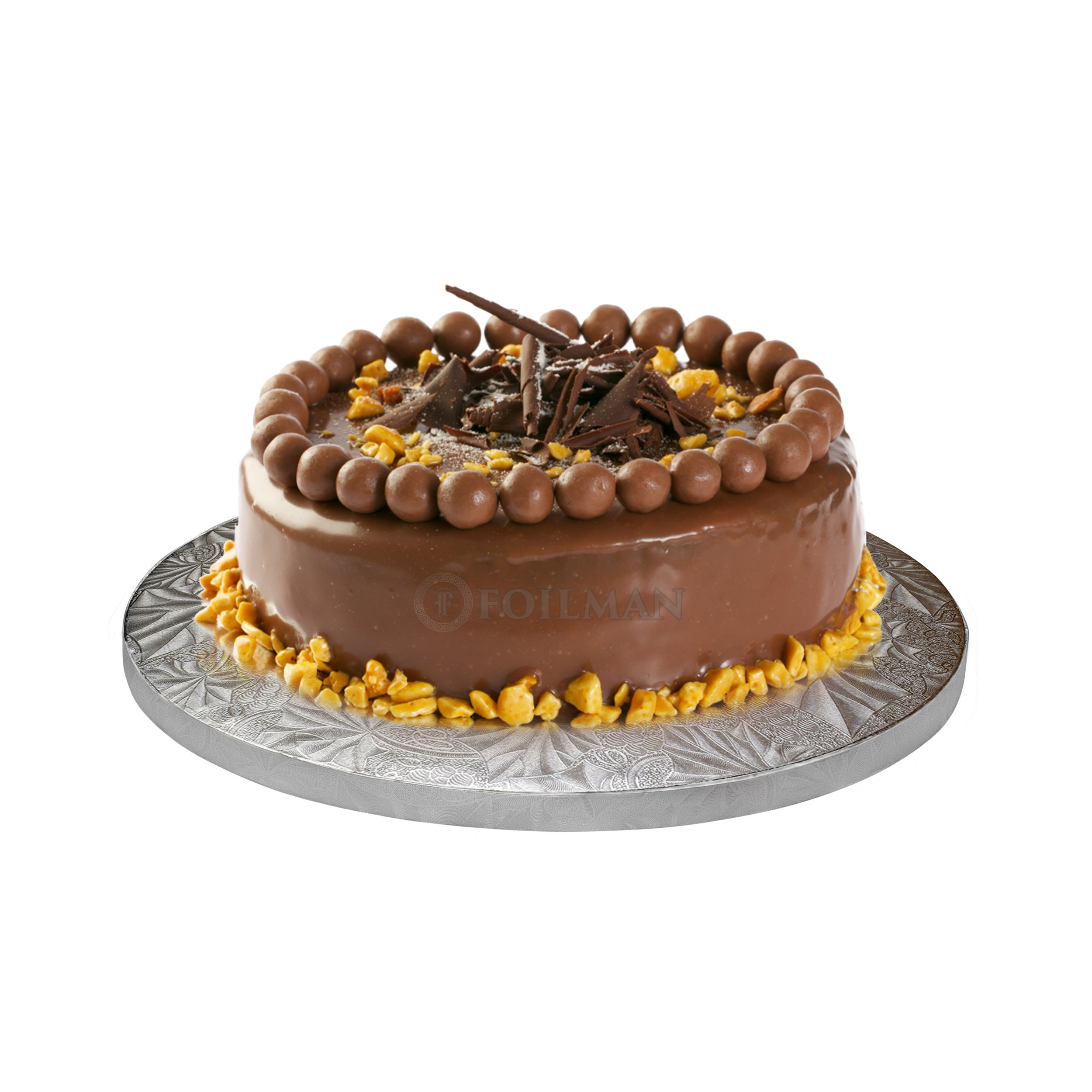"""12"""" Inch Round Drum Cake Boars for Decorating Cakes ½ Inch Thick - with Coated With Grape Embossed Foil – Covers Top & Sides of Bakes - Sturdy, Elegant & Lightweight Boards (Pack of 12)"""