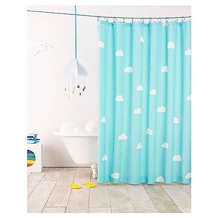 Pillowfort Cloud Shower Curtain Sky Blue