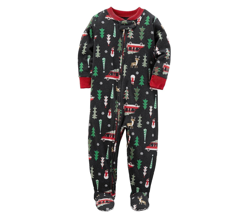 Carter's Boys' 3T-8 One Piece Christmas Fleece Pajamas