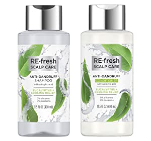RE-fresh Scalp Care - Anti-Dandruff Shampoo and Conditioner Set - Eucalyptus + Cooling Relief (13.5 oz each)