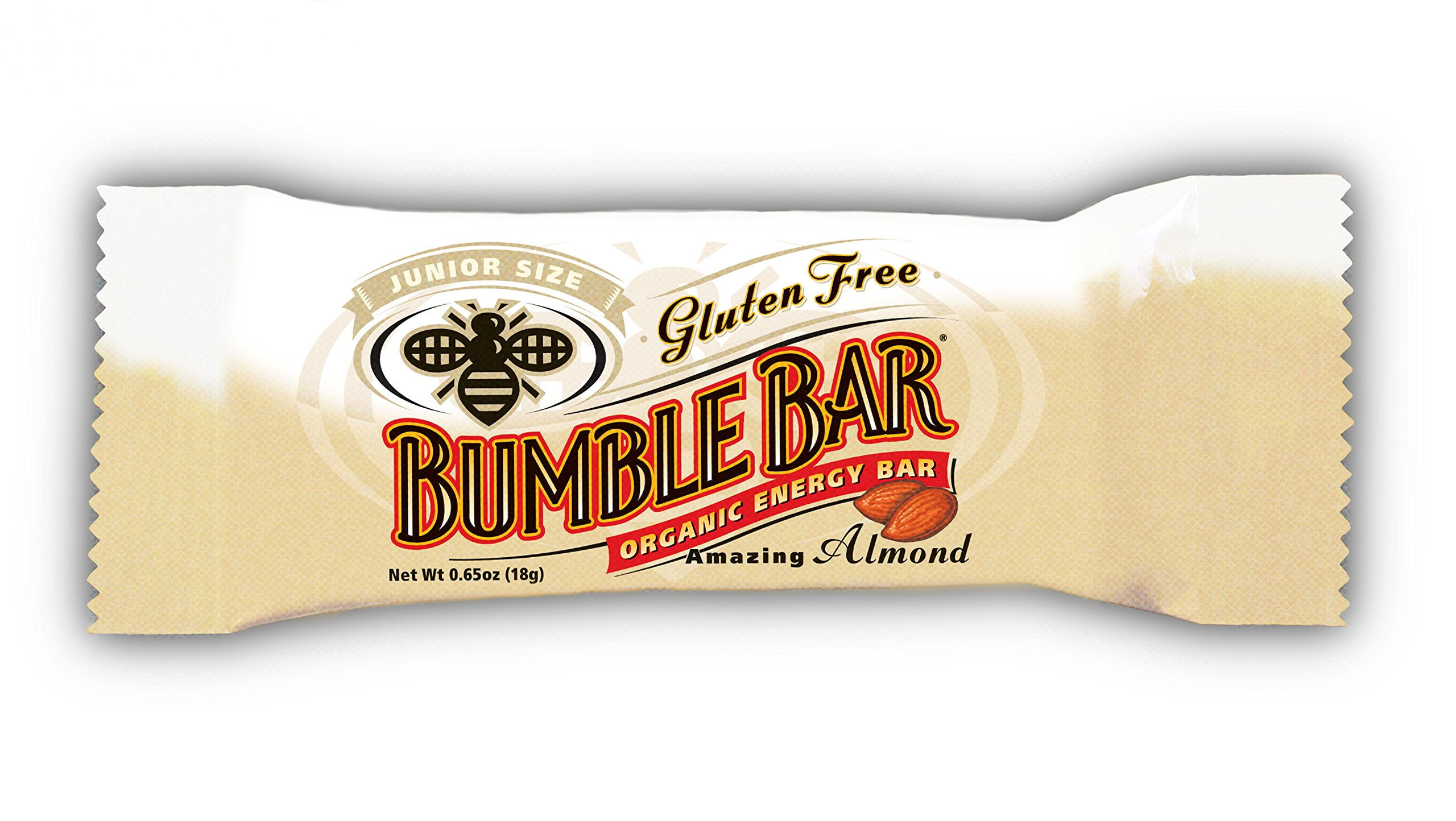 BumbleBar Gluten Free Junior Amazing Almond, 0.65-Ounce Bars (Pack of 12)