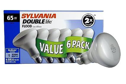 Sylvania Home Lighting 10264 Incandescnet Light Bulb, BR30 Double Life Life-65W-Reflector