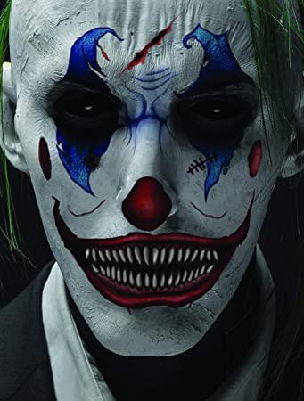 Halloween Clown.Halloween Realistic Temporary Costume Make Up Face Tattoo Kit Men Or Women Adult