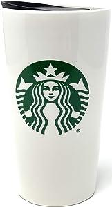 Starbucks 2020 Classic Green & White Traveler Tumbler Coffee Mug (12 oz)