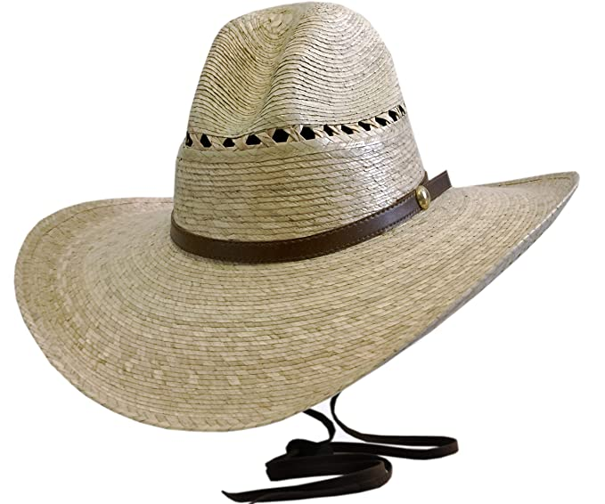 6fb6c2a25 Amazon.com: BULL-SKULL HATS, PALM LEAF COWBOY HAT, GUS 507: Clothing
