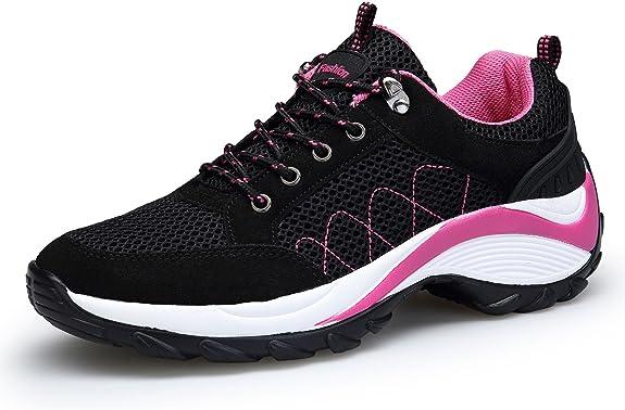 DAFENP Zapatillas de Mujer Deportivas Running Trail Gym Sneakers Comodos Zapatos Tacón: Amazon.es: Zapatos y complementos