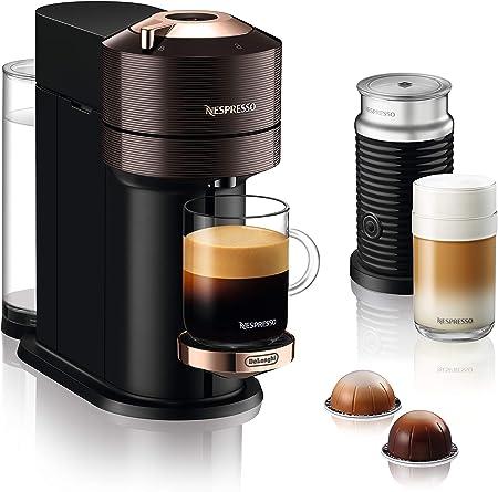 DeLonghi Nespresso Vertuo Next ENV 120.BWAE - Cafetera de cápsulas con espumador de leche Aeroccino: Amazon.es: Hogar