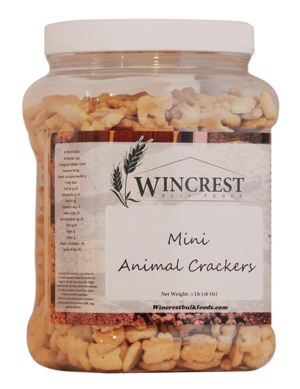 Mini Animal Crackers - 1 Lb (16 Oz) Tub Stauffer Biscuit